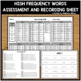 Wonders First Grade HFW Assessment