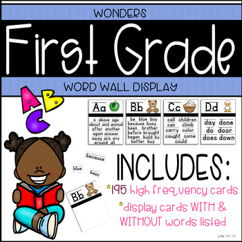 Wonders First Grade High Frequency Word Wall Cards & Display