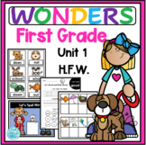 Wonders First Grade High Frequency Words Activities Unit 1