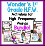 Wonders First Grade High Frequency Words Growing Bundle