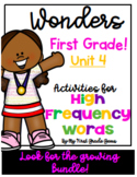 Wonders First Grade High Frequency Words Unit 4
