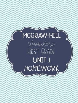 Wonders First Grade Homework