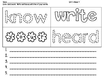 Wonders First Grade McGraw HIll Unit 6 Week 4