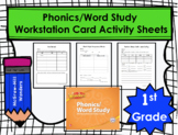 Wonders First Grade Phonics/Word Study Workstation Card Activity Sheets