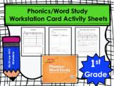 Wonders First Grade Phonics/Word Study Workstation Card Ac