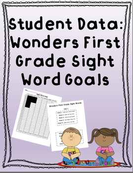 Wonders First Grade Sight Word Data Tracking