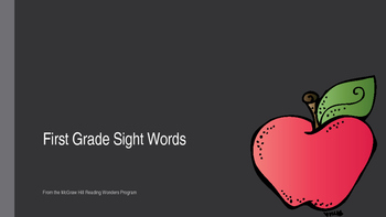 Wonders First Grade Sight Words Powerpoint