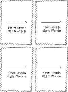 Wonders First Grade Sight Words Self-Tracking