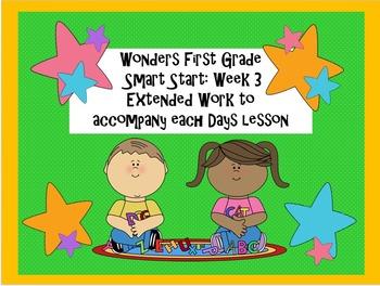 Wonders First Grade Smart Start Week 3: Extended Assessments