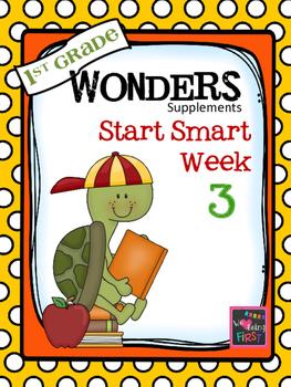 1st Grade Wonders - Start Smart Week 3 of 3