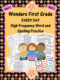 Wonders First Grade: Spelling and High Frequency Resources- Unit 1