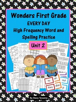 Wonders First Grade: Spelling and High Frequency Resources- Unit 2