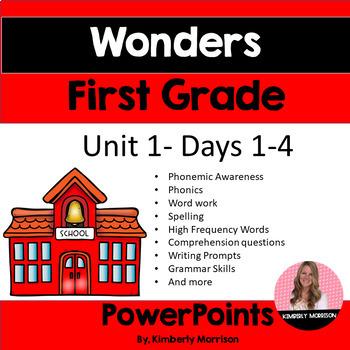 Wonders First Grade Unit 1 Presentation Bundle
