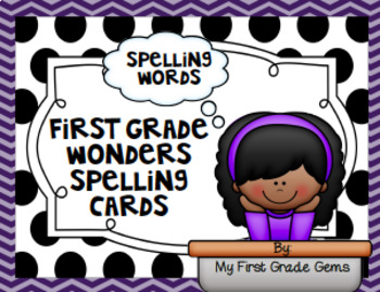 Wonders First Grade Unit 1 Spelling Cards