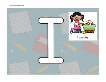 Wonders First Grade Smart Start Week 1 Sight Words Play Dough Mats
