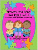Wonders First Grade: Unit 1-Week 2-Days 1-5 :Work for Each Day