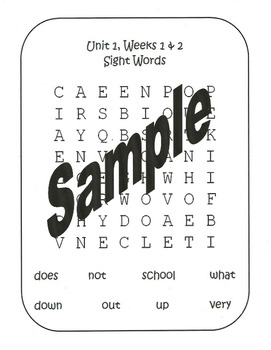Wonders First Grade, Unit 1 Word Searches