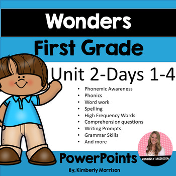 Wonders First Grade Unit 2 Presentation Bundle