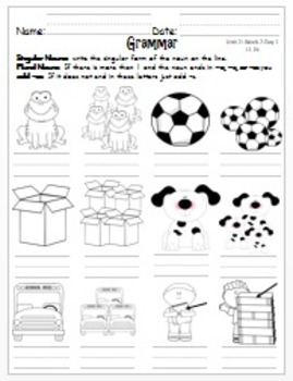 Wonders First Grade-Unit 2: Week 2: Days 1-5: Extended Work for Each Day