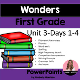 Wonders First Grade Unit 3 Presentation Bundle
