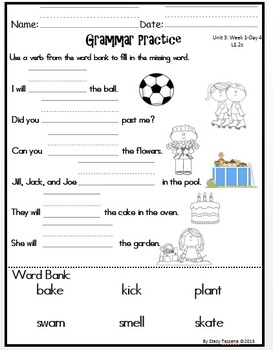 Wonders First Grade: Unit 3: Week 1: Days 1-5: Extended Lessons for Each Day