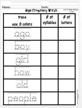 Wonders First Grade: Unit 3 Week 4 Days 1-5: Extended Lessons for Each Day