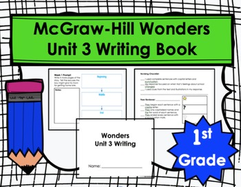Wonders First Grade Unit 3 Writing Book