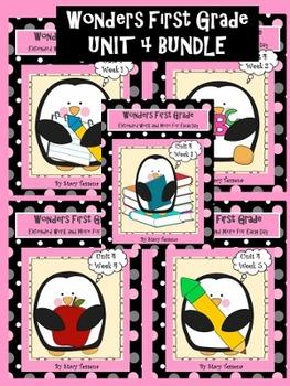 Wonders First Grade: Unit 4 BUNDLE pack