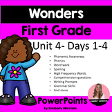 Wonders First Grade Unit 4 Presentation Bundle
