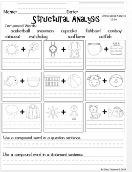 Wonders First Grade: Unit 4 Week 5 Days 1-5: Extended Resources