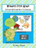 Wonders First Grade: Unit 5 Week 1 Days 1-5: Extended Resources