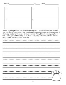Wonders First Grade Unit 5 Writing Prompts