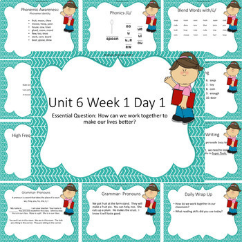 Wonders First Grade Unit 6 Presentation Bundle