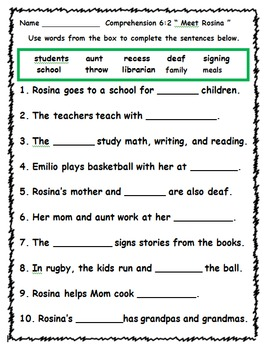 Wonders First Grade Reading Unit 6 Activities (2014)