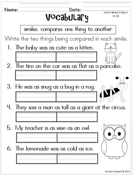 Wonders First Grade: Unit 6 Week 3 Days 1-5: extended Resources