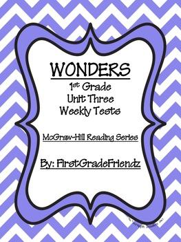 Wonders First Grade Unit Three Tests