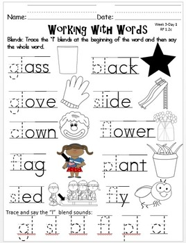 Wonders First Grade: Unit1 Week 3 Days 1-5 : Extended Work for Each Day