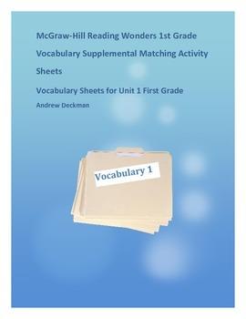 Wonders First Grade Vocabulary Supplemental Worksheets