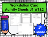 Wonders First Grade Workstation Card Activity Sheets: Unit