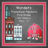 Wonders Reading Flipcharts for First Grade Unit 1 Week 2