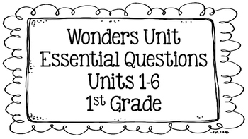 Wonders Focus Board (1st Grade)