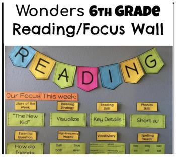 Wonders 6th Grade Reading / Focus Wall