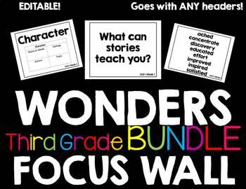 Wonders Focus Wall Third Grade BUNDLE!!!