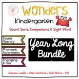 Wonders For Kindergarten Sound Sorts, Comparisons, & Sight Words Bundle