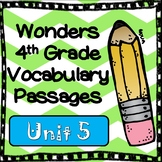 Wonders Fourth Grade Vocabulary Cloze Passages Unit 5