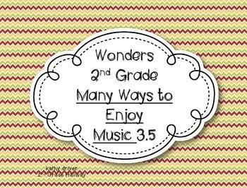 Wonders Grade 2 Many Ways to Enjoy Music 3.5 {7 Literacy Activities}