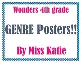 Wonders Genre Posters 4th Grade