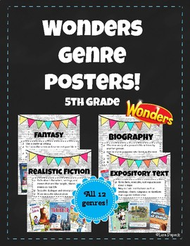Wonders Genre Posters! 5th Grade