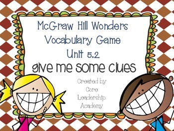Wonders Give me a Clue Game 5.2