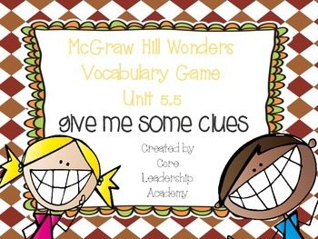 Wonders Give me a Clue Game 5.5